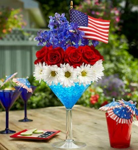 Cheers to the Red, White, and Blue  in Lemont IL, Royal Petal