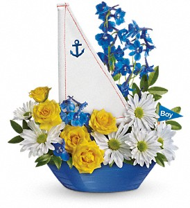 Ahoy It's A Boy Bouquet by Teleflora in Pompano Beach FL, Honey Bunch