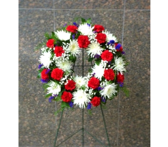 21 INCH PATRIOTIC  WREATH FOR GRAVESITE in Arlington VA, Twin Towers Florist