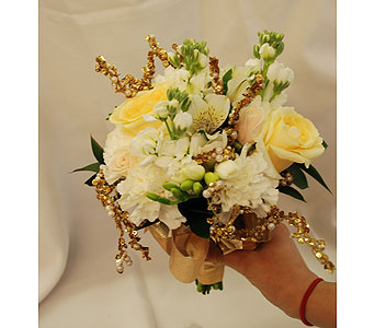 Golden Scepter Bouquet in Hales Corners WI, Barb's Green House Florist