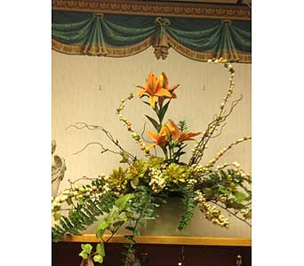 Orange Lily Arrangement in New Castle PA, Butz Flowers & Gifts