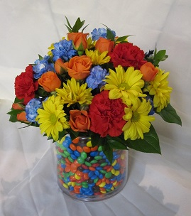 Smartie Surprise Bouquet in Guelph ON, Patti's Flower Boutique