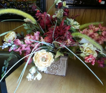 Silk Centerpiece in New Castle PA, Butz Flowers & Gifts