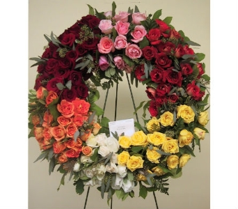 Rose Wreath in Somerset NJ, Flower Station