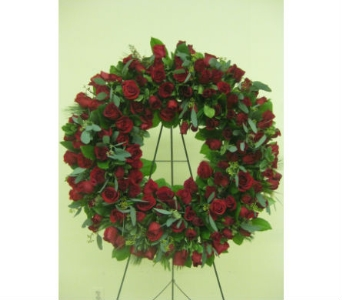 Red Rose Wreath in Somerset NJ, Flower Station