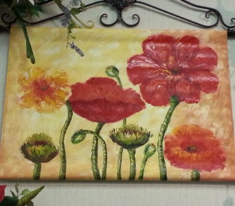 Canvas Oil Painting in New Castle PA, Butz Flowers & Gifts