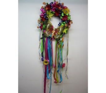 Fiesta Green Butterfly Wreath in San Antonio TX, Allen's Flowers & Gifts