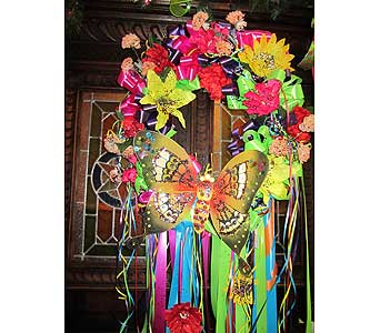 Fiesta Green Butterfly Wreath I in San Antonio TX, Allen's Flowers & Gifts