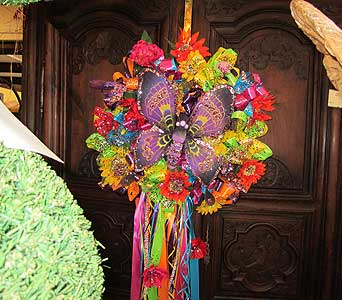 Fiesta Purple Butterfly Wreath in San Antonio TX, Allen's Flowers & Gifts