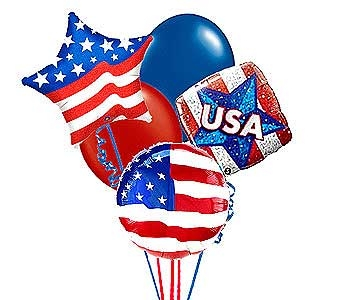 Patriotic Balloon Bouquet in Williamsburg VA, Schmidt's Flowers & Accessories