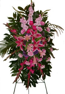Passionate Pink Standing Spray in Lake Charles LA, A Daisy A Day Flowers & Gifts, Inc.