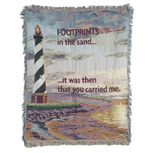 It Was Then You Carried Me Tapestry Throw in Pendleton IN, The Flower Cart