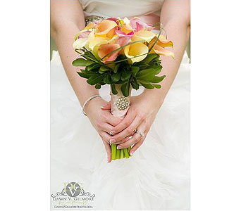 Pastel Calla Bouquet in Middletown DE, Forget Me Not Florist & Flower Preservation