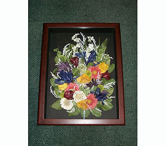 12x16 Shadowbox Cluster in Middletown DE, Forget Me Not Florist & Flower Preservation