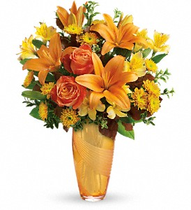 Teleflora's Amber Elegance Bouquet in Aberdeen NJ, Flowers By Gina