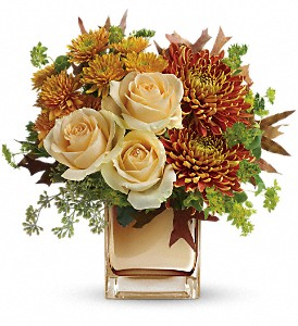 Teleflora's Autumn Romance Bouquet in Mitchell SD, Nepstads Flowers And Gifts