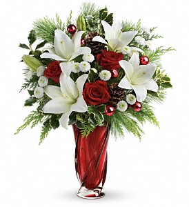 Teleflora's Christmas Swirl Bouquet in Guelph ON, Patti's Flower Boutique