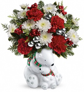 Teleflora's Send a Hug Cuddle Bears Bouquet in New York NY, Sterling Blooms