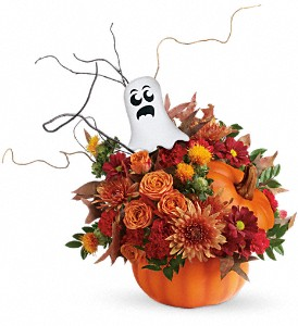 Teleflora's Spooky Surprise Bouquet in North Syracuse NY, The Curious Rose Floral Designs