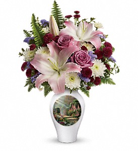 Thomas Kinkade's Moments Of Grace by Teleflora in New Port Richey FL, Holiday Florist