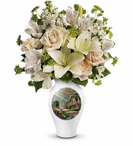 Thomas Kinkade's Radiant Garden by Teleflora in Grand Rapids MI, Rose Bowl Floral & Gifts