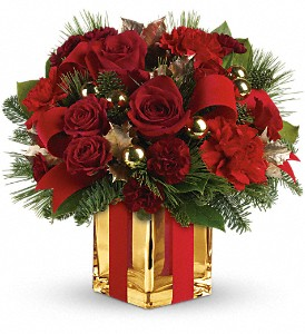 All Wrapped Up Bouquet by Teleflora in East Providence RI, Carousel of Flowers & Gifts