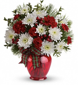 Teleflora's Joyful Gesture Bouquet in Dubuque IA, New White Florist
