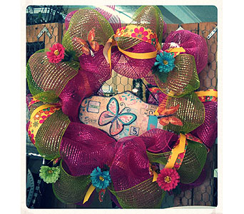 Mesh Wreath in Cynthiana KY, AJ Flowers & Gifts