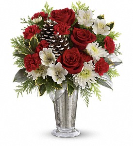 Teleflora's Timeless Cheer Bouquet in East Providence RI, Carousel of Flowers & Gifts