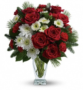 Teleflora's Winter Kisses Bouquet in Calgary AB, All Flowers and Gifts