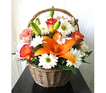 Bright Blooms Basket  in San Diego CA, The Floral Gallery