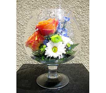 Brandy Snifter Arrangement in San Diego CA, The Floral Gallery