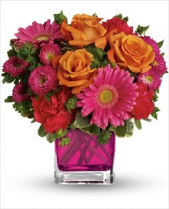 Turn Up The Pink Bouquet in Clearwater FL, Hassell Florist
