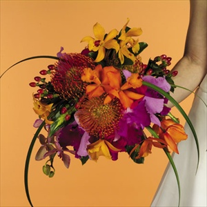 Hot Tropical Bouquet in Clearwater FL, Hassell Florist