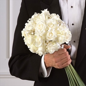 White Rose Bouquet in Clearwater FL, Hassell Florist
