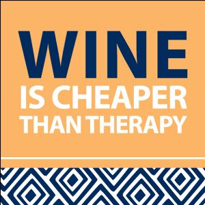 Wine Cheaper than therapy in High Ridge MO, Stems by Stacy