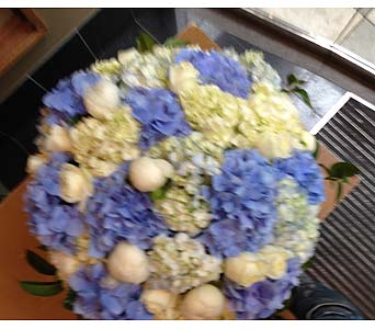 Amazing Blue and White Bouquet in Bellevue WA, CITY FLOWERS, INC.
