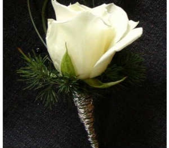 White Rose Boutonniere in Somerset NJ, Flower Station