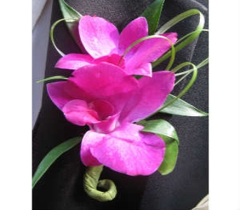 Purple Dendro Orchid Boutonniere in Somerset NJ, Flower Station