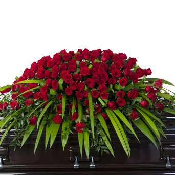 Splendor - Full/Half Rose Casket Flowers in Dallas TX, Dr Delphinium Designs & Events