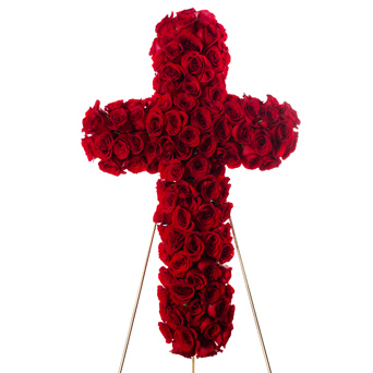 Splendor -  Rose Cross Flower Spray in Dallas TX, Dr Delphinium Designs & Events