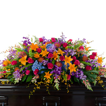 Grace - Bright Casket Flowers in Dallas TX, Dr Delphinium Designs & Events