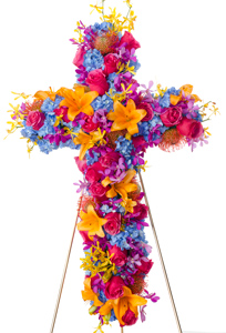 Grace - Bright Cross Flower Spray in Dallas TX, Dr Delphinium Designs & Events