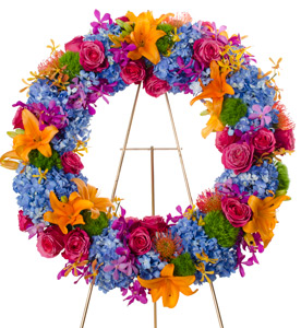 Grace - Bright Wreath Flower Spray in Dallas TX, Dr Delphinium Designs & Events