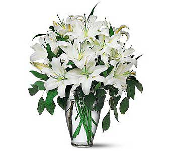 Perfect White Lilies in Fort Lauderdale FL, Brigitte's Flower Shop