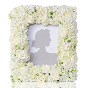 Custom - Floral Frame in Dallas TX, Dr Delphinium Designs & Events