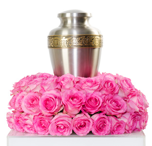 Grace - Rose Cremation Flowers in Dallas TX, Dr Delphinium Designs & Events