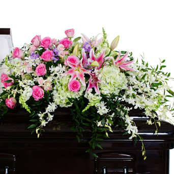 Grace - Soft Full/Half Casket Flowers in Dallas TX, Dr Delphinium Designs & Events