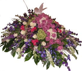 Peaceful Enchantment Casket Spray in Lake Charles LA, A Daisy A Day Flowers & Gifts, Inc.