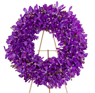 Radiance - Orchid Wreath Spray in Dallas TX, Dr Delphinium Designs & Events